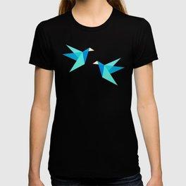Vivid Pink Paper Cranes T-shirt