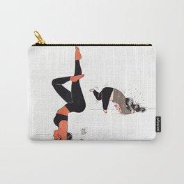 Yogi girl funny headstand - yoga teacher - yoga fun - expectation vs reality Carry-All Pouch