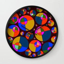 Bubble pink & blue 07 Wall Clock