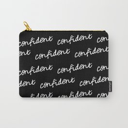 GOOD VIBES - CONFIDENT black background Carry-All Pouch