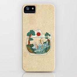 Minhwa: Jumping Carps Terrarium A Type (Korean traditional/folk art) iPhone Case