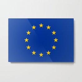 European Union EU Flag Metal Print