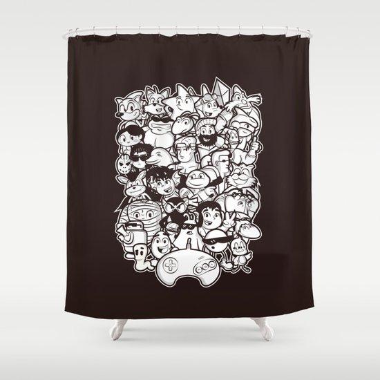 Mega 16 Bit Shower Curtain