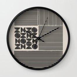 Block Design Art Wall Clock