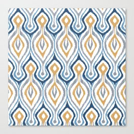 Sketchy Ikat - Saddle Canvas Print