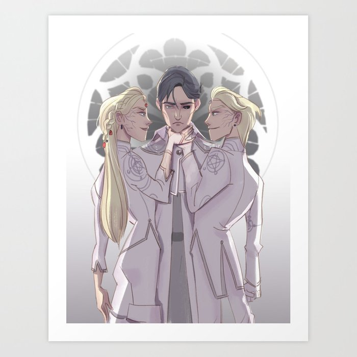 Athos, Astrid and Holland Art Print