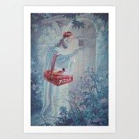 thegnarledbranch Art Prints featuring Part time Job by TheGnarledBranch