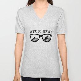 Lets Go Travel Gift Unisex V-Neck