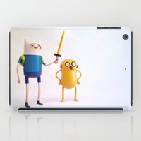 finn and jake iPad Cases featuring Heroes: Finn & Jake (Wide) by Ben Christie