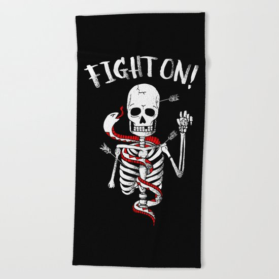 FIGHT ON! Beach Towel