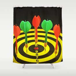 Colorful Darts Shower Curtain