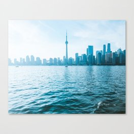 Toronto Skyline CN Tower Canada Blue View Photo Canvas Print