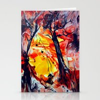 sunrise Stationery Cards featuring SunRise by ART de Luna