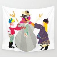 snowman Wall Tapestries featuring Snowman by Design4u Studio