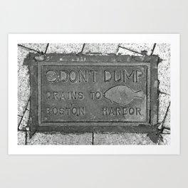 Keep Boston Harbor Clean Art Print