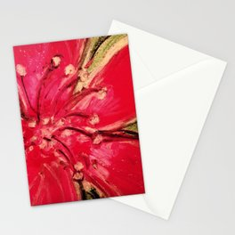 Red Hibiscus Detail Stationery Cards