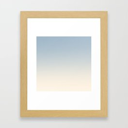 IVORY BONES - Minimal Plain Soft Mood Color Blend Prints Framed Art Print
