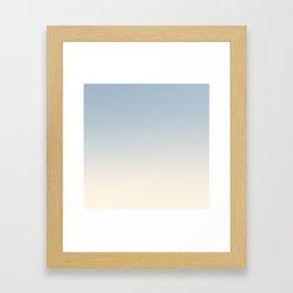 IVORY BONES - Minimal Plain Soft Mood Color Blend Prints Framed Art Print