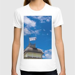 Little Blue Kiosk Flag T-shirt