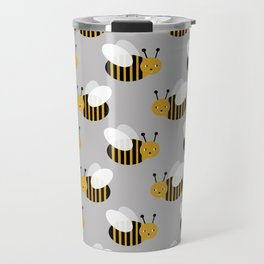 Bee pattern print honey bees nature inspired cute nursery kids gender neutral pattern Travel Mug