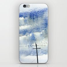 Bird on a wire iPhone & iPod Skin