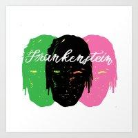 Triple Frankenstein Art Print