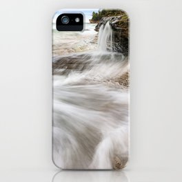 Elliot Falls on Miners Beach - Pictured Rocks, Michigan iPhone Case