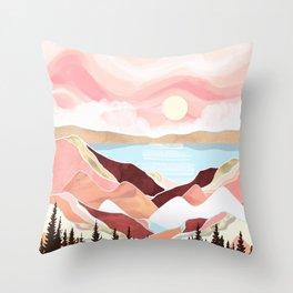 Autumn Lake Sunrise Throw Pillow