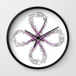 Antispin POI flower Wall Clock