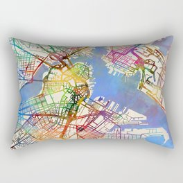Boston Massachusetts Street Map Rectangular Pillow
