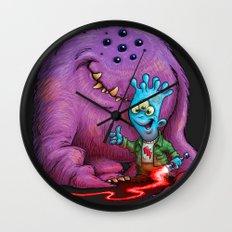 A boy and his Grogg Wall Clock