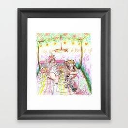 The Little Poor Family Kitten Framed Art Print