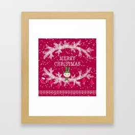 Merry christmas and happy new year 12 Framed Art Print