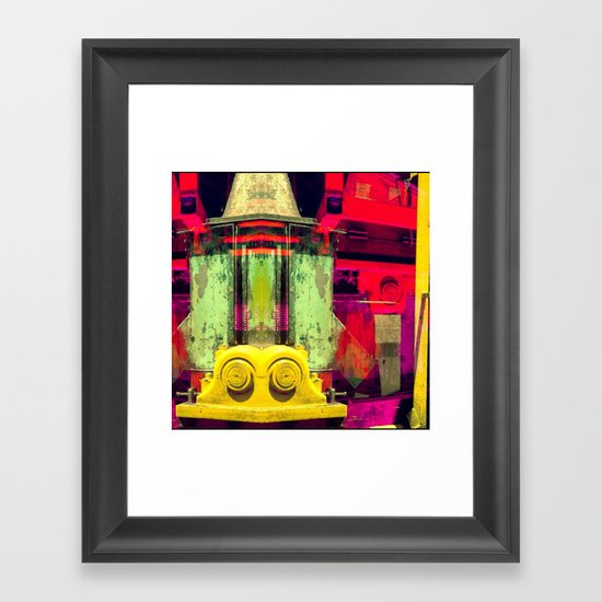 Industrial Abstract Twins Framed Art Print