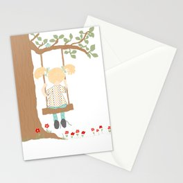 On the Swing, In the Tree Stationery Cards