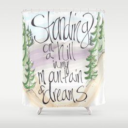 Led Zepplin Quote Shower Curtain