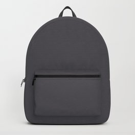 Dark Smoke Gray Solid Color Pairs With Sherwin Williams 2020 Trending Color Perle Noir SW9154 Backpack