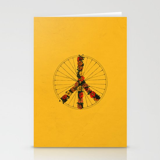 Peace & Bike (Colors) Stationery Cards
