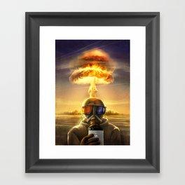 last selfie Framed Art Print