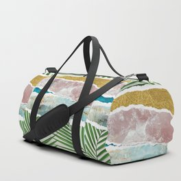 Nature's Collage I -Amethyst, Gold, Green Fans & Turquoise Seas Duffle Bag