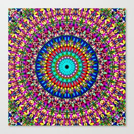 Magic Life Garden Mandala Canvas Print