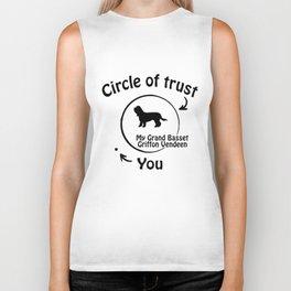 Circle of trust my Grand Basset Griffon Vendeen. Biker Tank