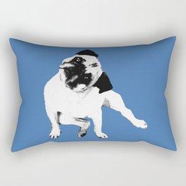 Pug Full Tilt Rectangular Pillow