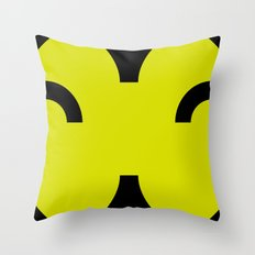 face 6 Throw Pillow