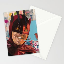 Caped Crusader by Famous When Dead Stationery Cards