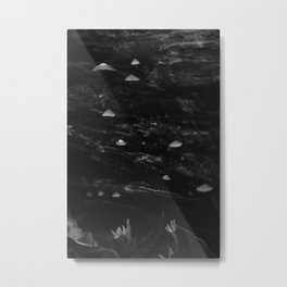 Other Worldly Fungus on the Forest Floor Metal Print