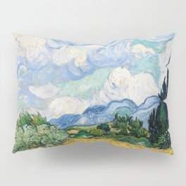 Wheat Field with Cypresses by Vincent van Gogh Pillow Sham