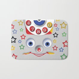Classic Retro vintage Smiley Toys Dial Phone Bath Mat