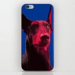 Majestic Doberman. Pop art dog. iPhone Skin