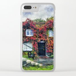 Autumn Cottage Clear iPhone Case